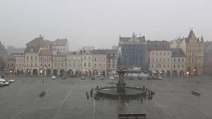Bouře a déšť v Českých Budějovicích