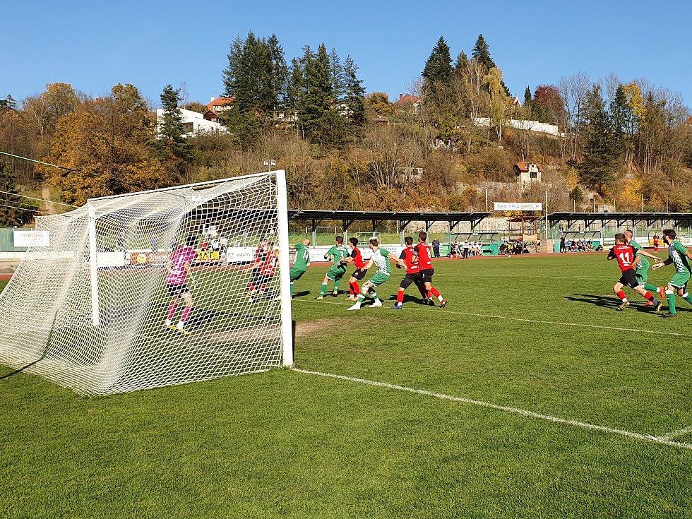 Dva góly padly až v závěru, Č. Krumlov porazil Táborsko B 2:0