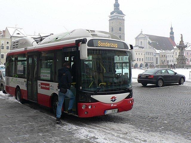 Elektrobus Siemens Rampini v Českých Budějovicích.