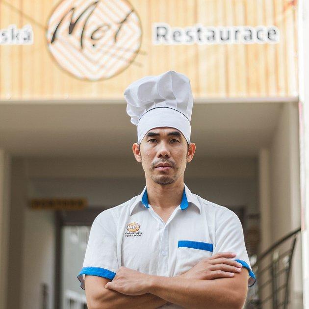 Šéfkuchař Sy Bo Nguyen zčeskobudějovické Met Restaurace.