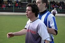 Záložník Martin Pulec na Hluboké přihrál Lesňákovi na vyrovnávací gól.
