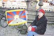 Petr Hořava přišel vyjádřit svou podporu Tibetu