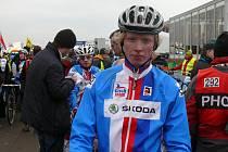 Cyklista českobudějovického týmu Jan Nesvadba na mistrovství světa