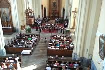 V pátek se v hlubockém kostele sv. Jana Nepomuckého uskutečnil koncert lovecké duchovní hudby.