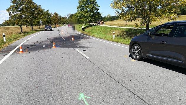 V sobotu dopoledne zemřeli u Hluboké dva motorkáři.