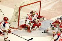 Utkání  hokejové O2 ELH mezi HC Mountfield České Budějovice a HC Eaton Pardubice.