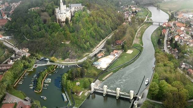 Plánovaná podoba přístavu v Hluboké.