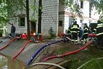 Dobrovolní hasiči z Plavu v akci.  Foto: SDH Plav