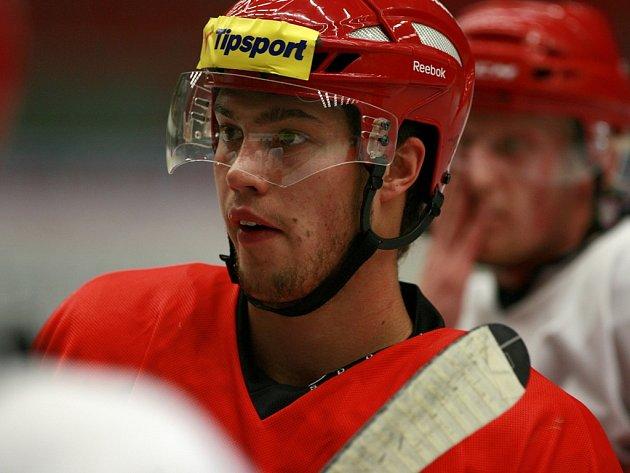 Hokejisté HC Mountfield prohráli v Jekatěrinburgu s Permem 1:5. Porážce nezabránil ani nadějní obránce Bohumil Jank.