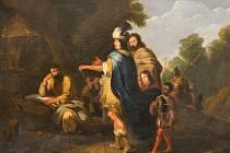 Alšova jihočeská galerie koupila za 275 000 korun obraz Alexandr a Dioegenes, který namaloval Lambert Jacobsz.