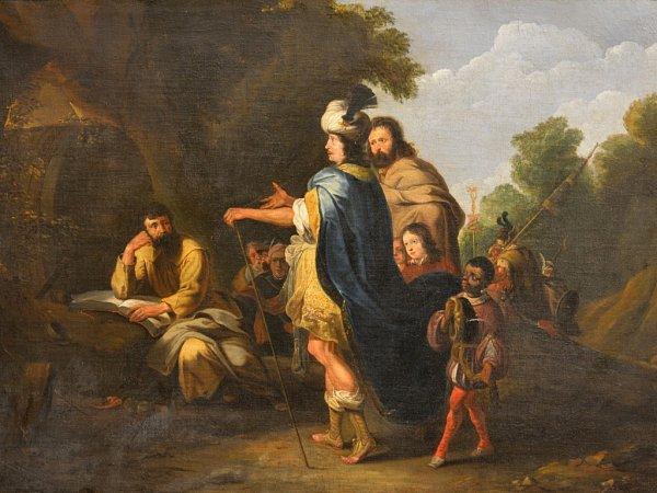 Alšova jihočeská galerie koupila za 275000korun obraz Alexandr a Dioegenes, který namaloval Lambert Jacobsz.