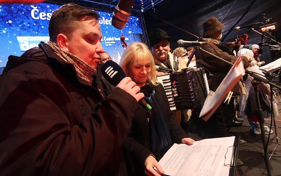 Česko zpívá koledy 2019 v Českých Budějovicích.