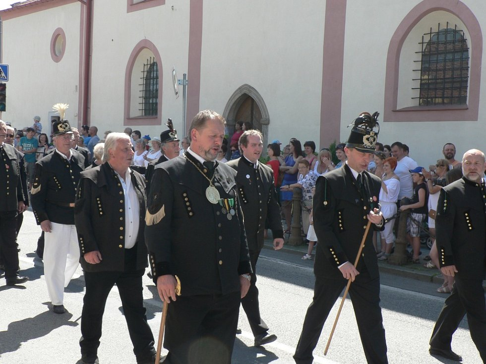 Rudolfovské městské slavnosti 2015. V průvodu byli i hosté z Příbrami.