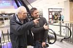 Jiří Mádl přijel uvést v pátek 8. února svůj druhý film Na střeše do českobudějovického multikina CineStar.
