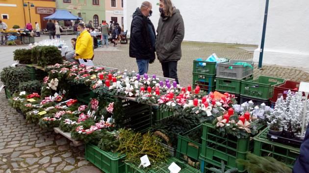 Trh na Piaristickém náměstí v Českých Budějovicích.