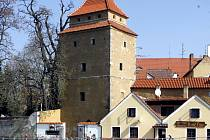 Věž Železná panna v Českých Budějovicích.