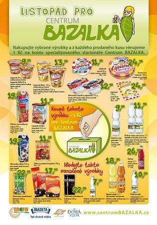 Nákupem vprodejnách Trefa podpoříte českobudějovické Centrum BAZALKA.