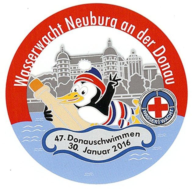 Logo zimního Dunaje.