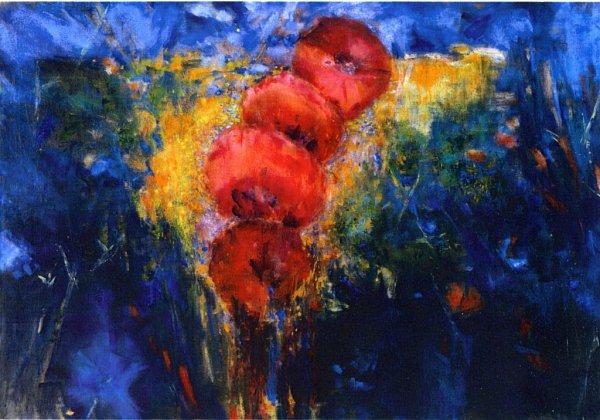 Obraz Triumf léta zroku 2000, který namaloval Jan Cihla.