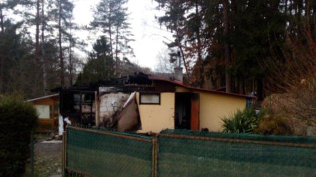 Tragický požár chatky ve Strážkovicích