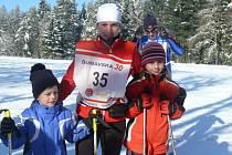 Šárka Znamenáčková s dětmi Kristýnou a Tomášem