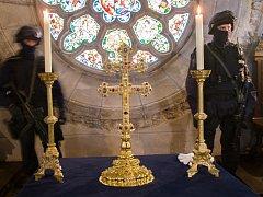 Závišův kříž chtějí letos opět vystavit mniši ve Vyšším Brodě. Relikviář byl loni hlavním lákadlem Zemské výstavy.
