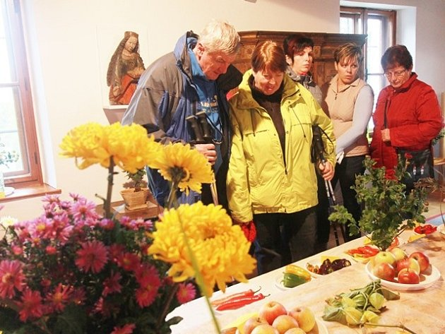 Výstava květin na tvrzi Žumberk.