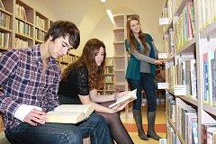 Opravená knihovna v Týně nad Vltavou.