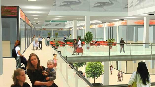 Obchodní centrum Pelikán - interiér.