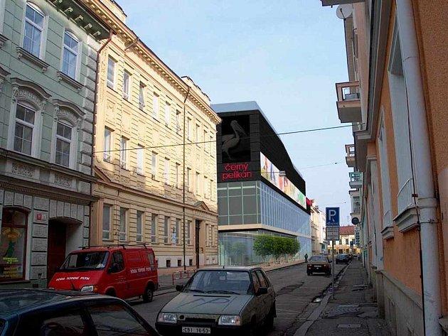 Obchodní centrum Pelikán - Štítného ulice.