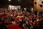 Mezinárodní festival studentských filmů Písek, 2014. Snímek z pátečního zahájení.