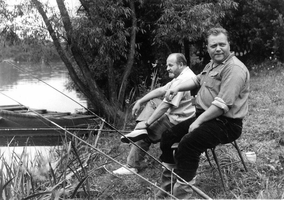 Na rybách v Plané nad Lužnicí - poválečná léta.
