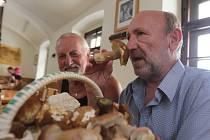 První houby v Českých Budějovicích si prohlíží od svého známého Klára Čtveráčková a Denisa Zlatarich a také Josef Honner.