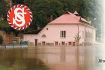 Povodně v roce 2002 výrazně zasáhly i hlubockou sokolovnu.