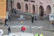 V pátek bylo českobudějovické náměstí jiné. Bez aut.