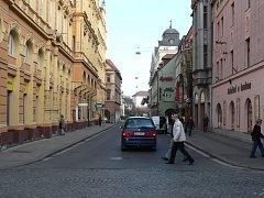 Ulice Karla IV. v Českých Budějovicích.