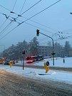 Jihomoravské silnice zasypal sníh.