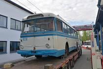 Do Brna se vrátil trolejbus Škoda 9Tr. Brněnský dopravní podnik ho získal zpět z Ukrajiny.