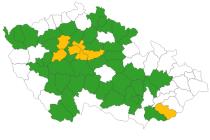 Koronavirový semafor k 11. září 2020. Jižní Morava svítí z víc než poloviny zeleně.