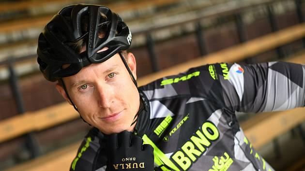 Dráhový cyklista Tomáš Bábek z Dukly Brno.