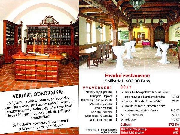 Navázat na slávu hradní restaurace vosmdesátých letech, kdy byl podnik na Špilberku jedním znejvyhlášenějších vBrně. Takový byl cíl při rekonstrukci prostor za branami hradu.