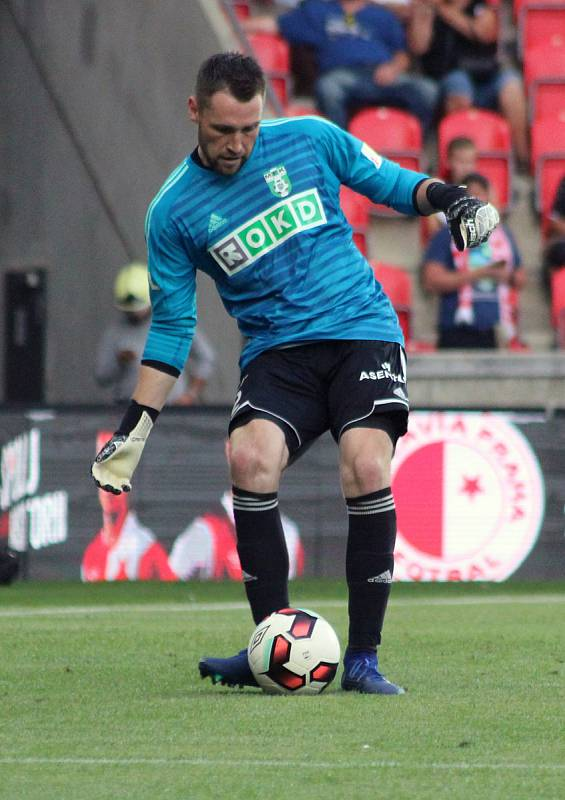 Karvinský gólman Martin Berkovec.