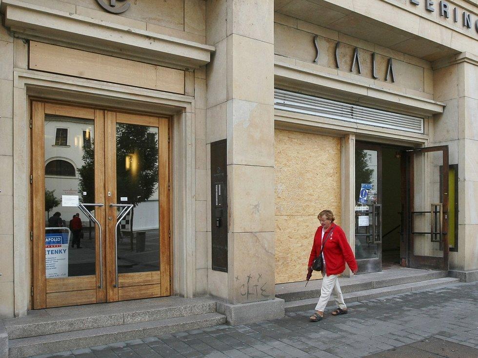 Brněnské kino Scala při rekonstrukci.