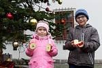 Na brněnském hradě Špilberk lidem připomněli staré vánoční zvyky, děti si také s rodiči mohly opéct špekáčky.