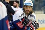 HC Kometa Brno v modrém (Peter Mueller) proti HC Sparta Praha. Ilustrační foto