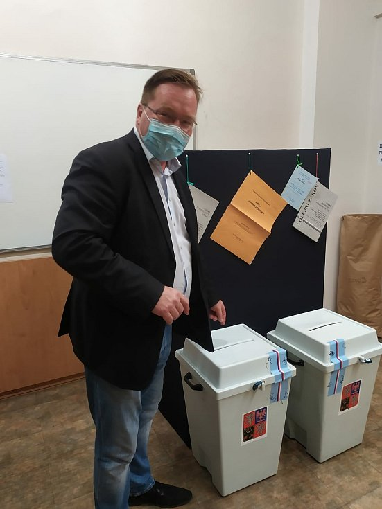 Tomáš Tomáš, senátorský kandidát za lidovce ve volebním obvodu Brno-město, odvolil v letošních volbách.
