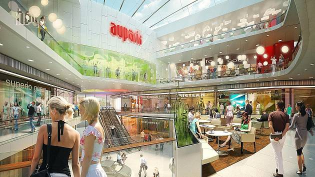 NEJVĚTŠÍ V BRNĚ. Nákupní centrum Aupark má vzniknout vedle autobusového nádraží Zvonařka. Stát má 1,8 miliardy korun. Od začátku stavby bude její dokončení trvat maximálně dva roky.