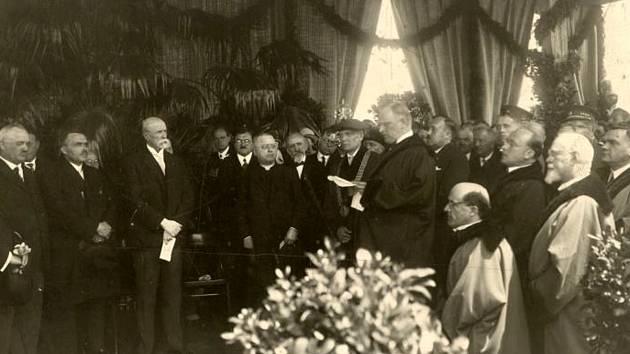Položení základního kamene k budově Právnické fakulty MU za přítomnosti prezidenta T. G. Masaryka – 9. 6. 1928