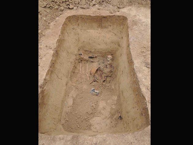 Ostatky tří německých vojáků našli archeologové v Popůvkách.