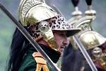 Vojenské ukázky z napoleonské doby viděli v sobotu návštěvníci areálu hradu Veveří.